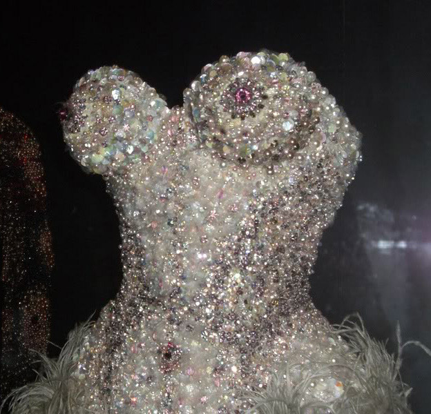 mr Pearl sequinned corset