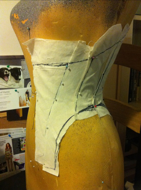 Drafting a Corset Training Corset - adding more panels