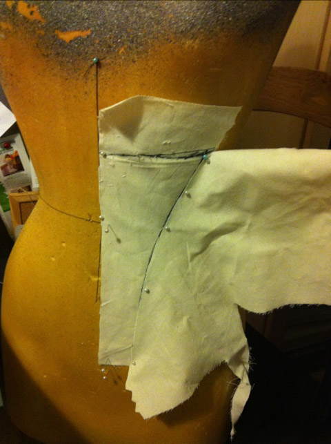 Drafting a Corset Training Corset - first panel