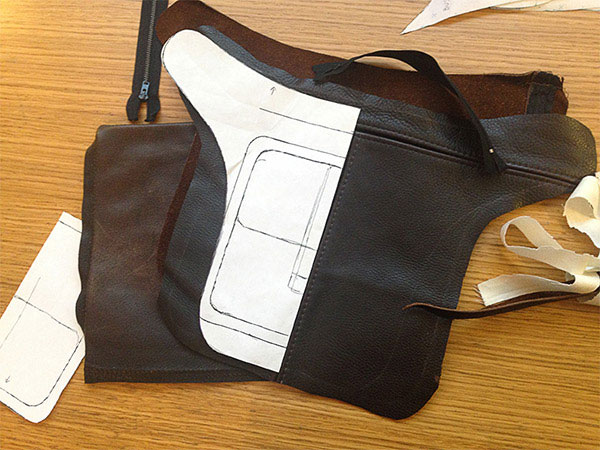 A Corset Mock-up & a Leather Hip Bag
