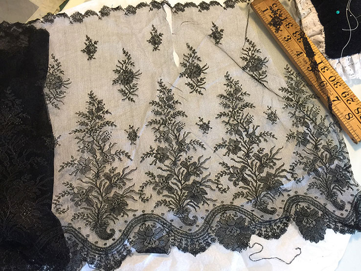 corset making lace vintage