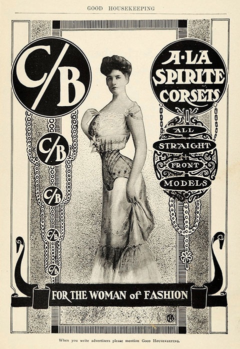 94646d6b202 ... 1904 Vintage Corset Training Corset Ad Edwardian - Woman of Fashion C B  Corsets Straight