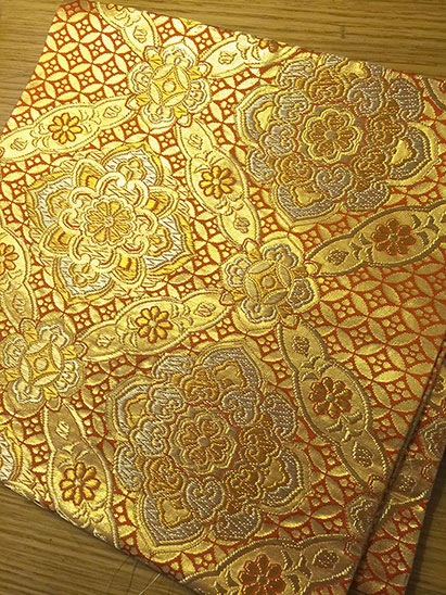 Gold kimono fabric, nice heavy weigh perfect for corset making