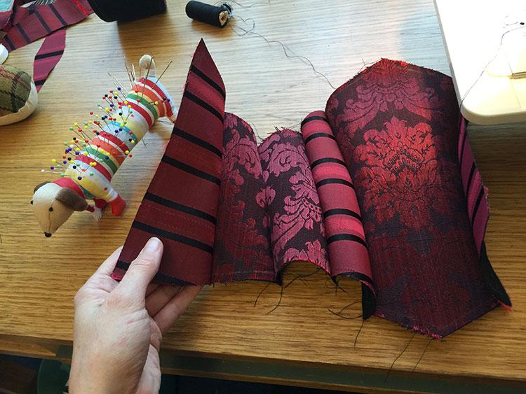 Corset pattern sewn but not ironed