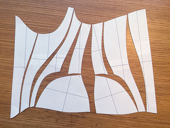 CAD Corset Pattern cut out
