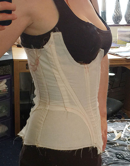 CAD corset pattern