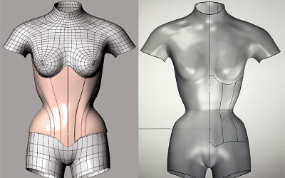 Mannequin Update & Learning How to Make a Corset Pattern in CAD