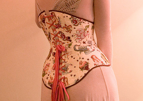 The Angel Underbust Corset Pattern Back