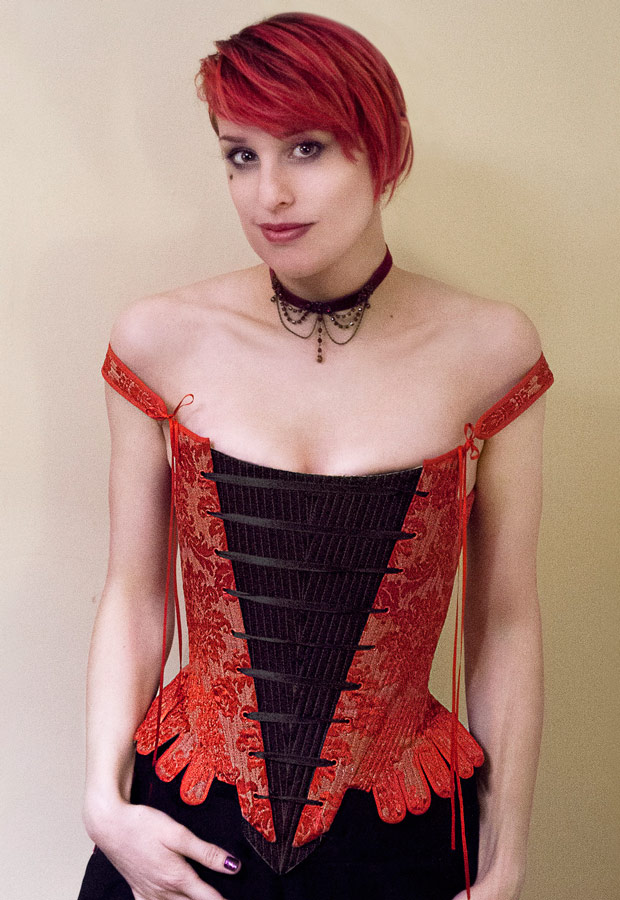 Elizabethan Bodice Corset Front