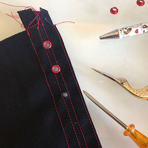 Getting Your Eyelets Straight When Corset Making