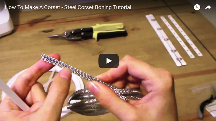 The Difference Between 'Sprung' And 'Spiral' Steel Bones Video Tutorial - How-To Corset Making