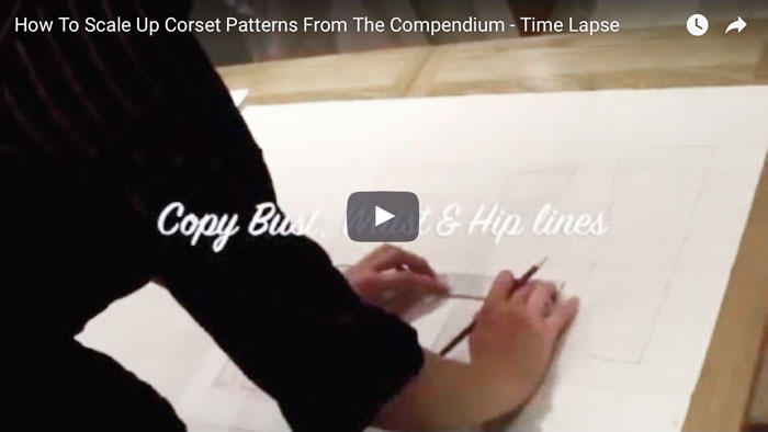 How To Scale Up Corset Patterns From A Book: Time Lapse Video