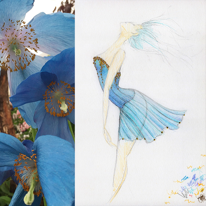Blue Poppy Corset Inspiration