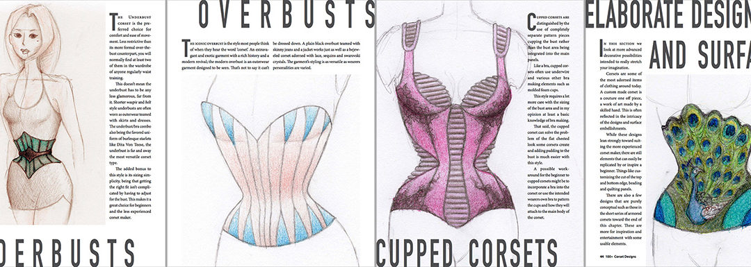 The Launch Has Begun!  The 100+ Corset Designs Art Book Release Date is the 8th Sept!