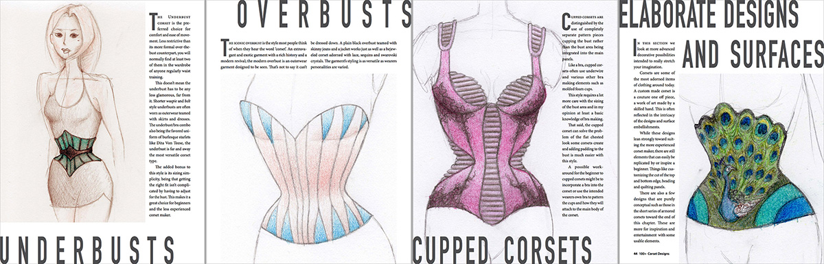 Chapter Introductions - 100+ Corset Designs Art Book