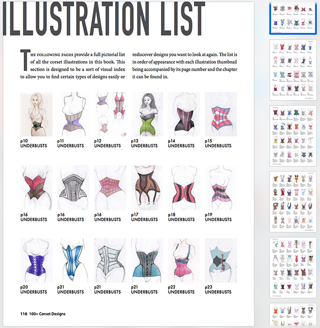 Illustration List pg 116 - 100+ Corset Designs - CorsetTraining.net - Scarlett Sapsford