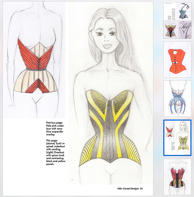 Page 51 - 100+ Corset Designs Art Book
