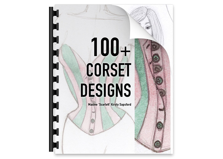 100+ Corset Designs Art Book  – $27