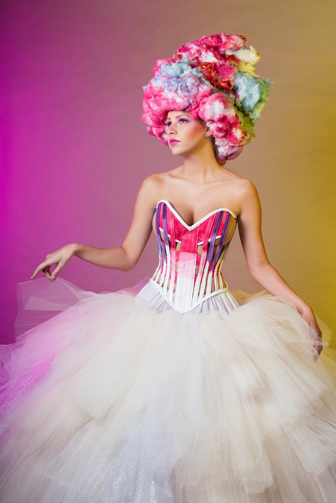 Cotton Candy Corset, House of 1000 Corsets