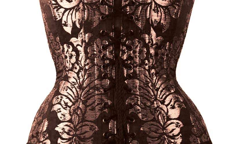 how to make corsets, back detail