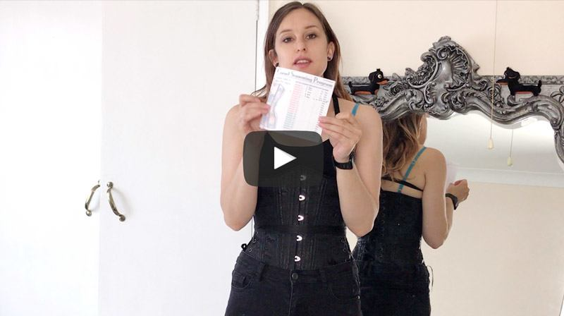 Video 5: Corset Stealthing, Torso Length & A Corset Seasoning Record Sheet