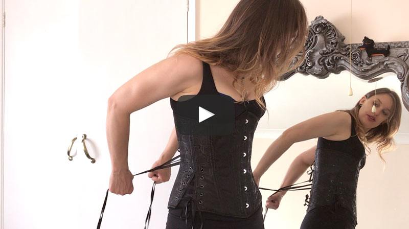 Video 8: Venturing Outside In My Training Corset