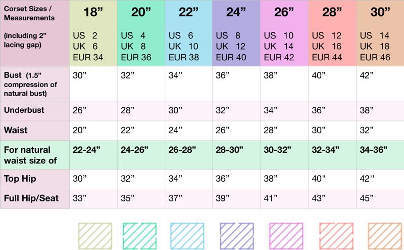 Pattern Sizing Chart