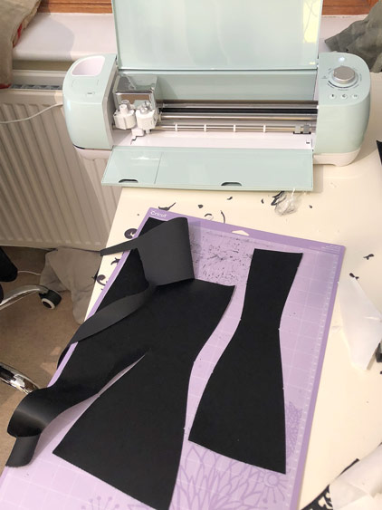 corset pattern cutting on my cricut
